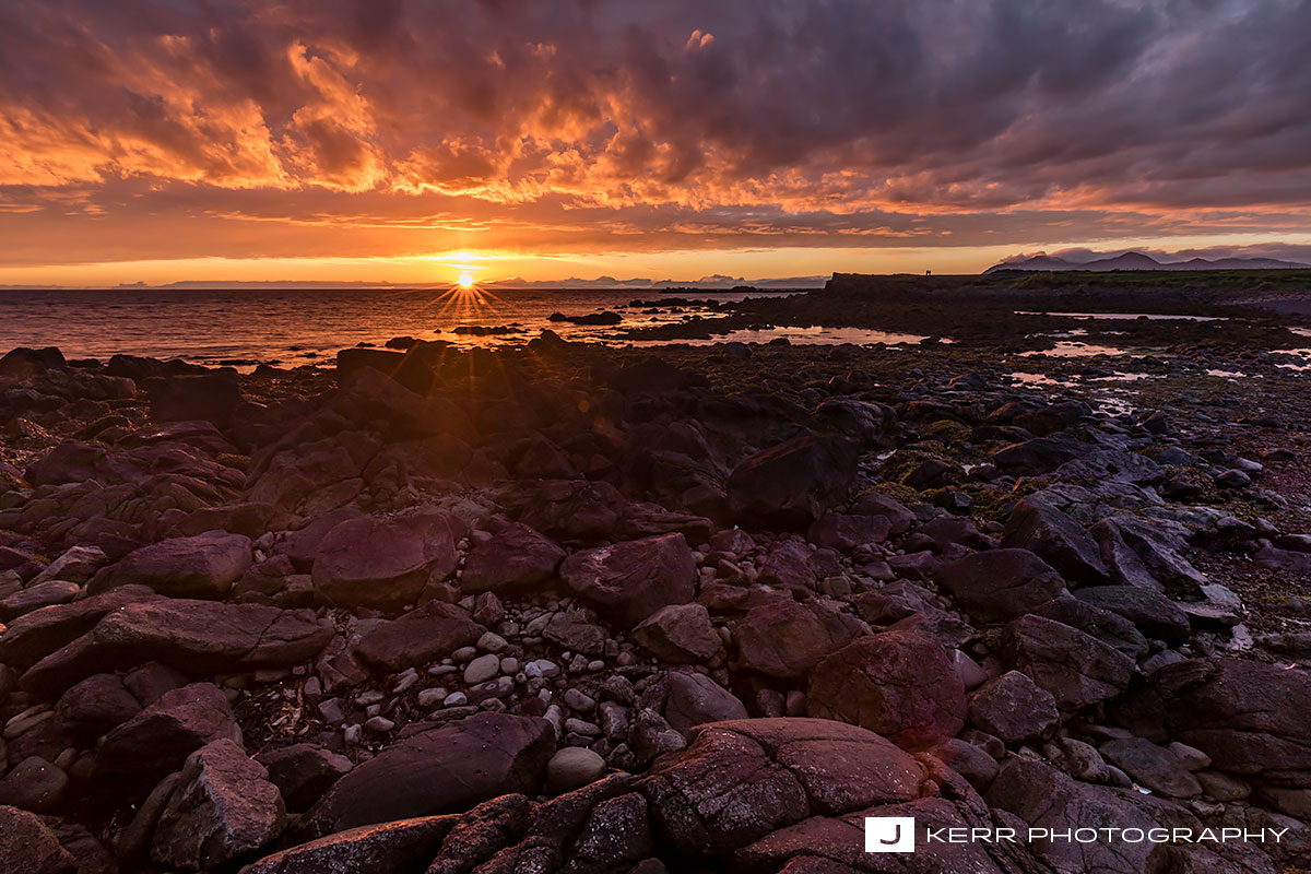 Akranes Sunset in Iceland